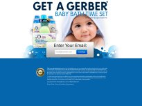 Gerber Baby Bath Time Set